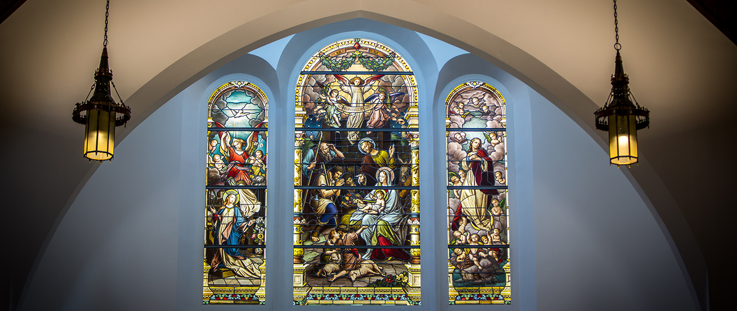Seaport Shrine Stained Glass Window