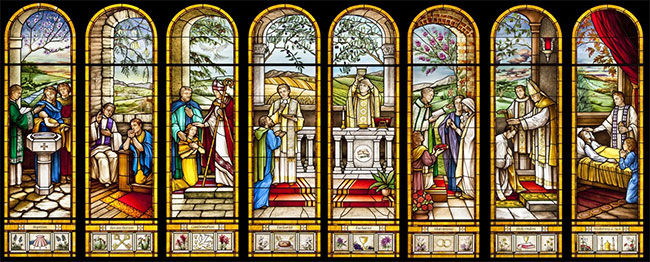 Sacraments window